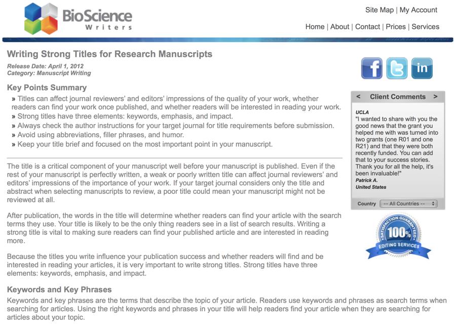 kalmar bioscience writers